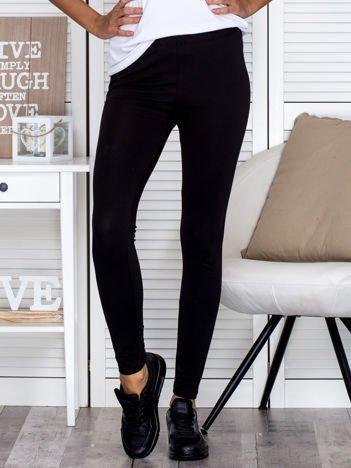 Czarne legginsy gładkie
