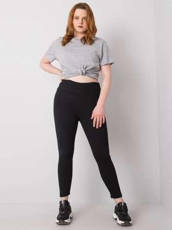 Czarne legginsy plus size w prążek Caitleen RUE PARIS