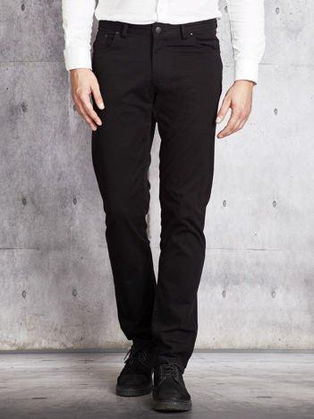 Czarne materiałowe spodnie męskie