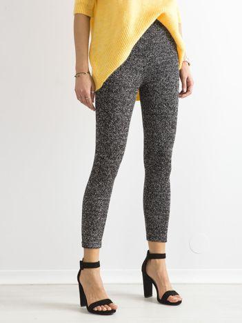 Czarne melanżowe legginsy bawełniane