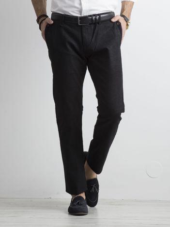 Czarne męskie spodnie regular