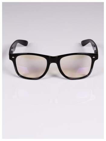 Czarne okulary zerówki kujonki typu WAYFARER NERDY
