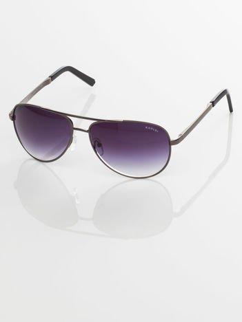 Czarne pilotki męskie okulary przeciwsłoneczne z systemem FLEX