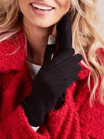 Czarne rękawiczki do smartfonów