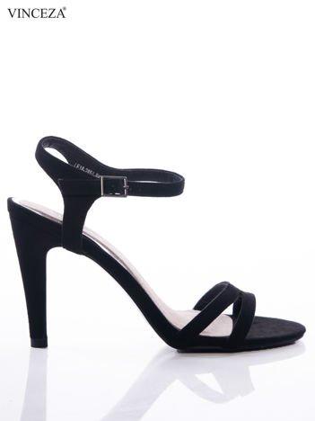 Czarne sandały Vinceza ze skórzaną wkładką