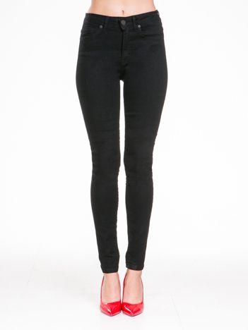 Czarne spodnie damskie high waist