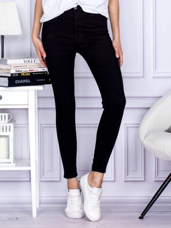Czarne spodnie high waist