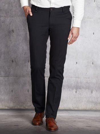 Czarne spodnie męskie stright