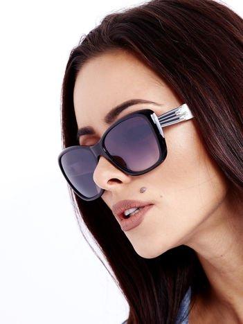 Czarno-Białe Damskie Okulary POLARYZACYJNE