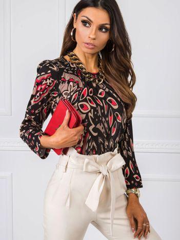Czarno-beżowa bluzka Romainne