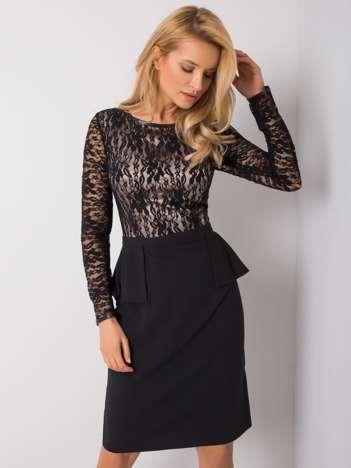 Czarno-beżowa sukienka Crystal