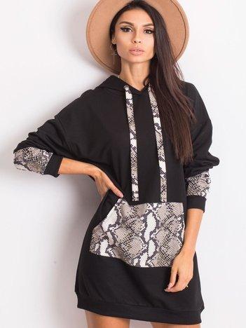 Czarno-beżowa sukienka Lauren