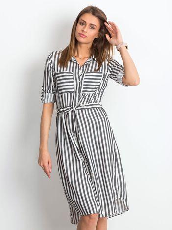 Czarno-biała sukienka Attached