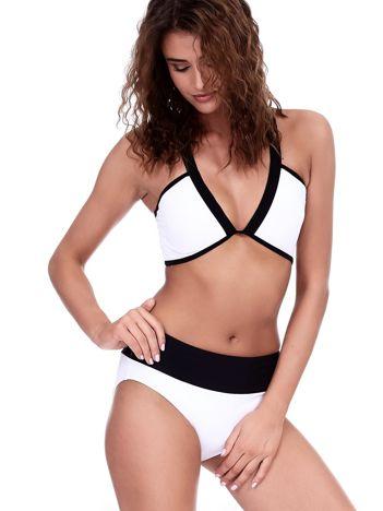 Czarno-biały kostium kąpielowy Central