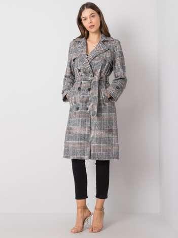 Czarno-biały płaszcz Adeline