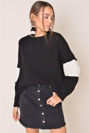 Czarno-biały sweter BSL