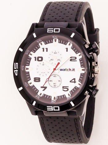 Czarno-biały zegarek męski
