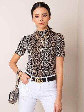 Czarno-brązowa bluzka Milla RUE PARIS