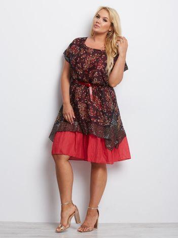 Czarno-czerwona sukienka plus size Experience