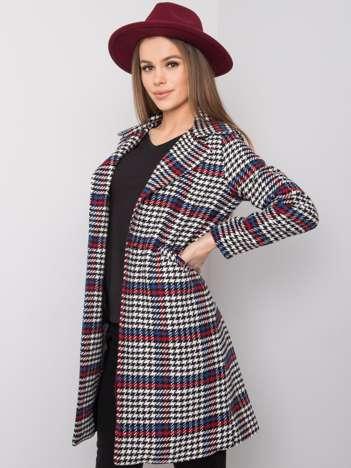 Czarno-czerwony płaszcz Leanna