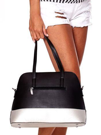 Czarno-srebrna torba z odpinanym paskiem