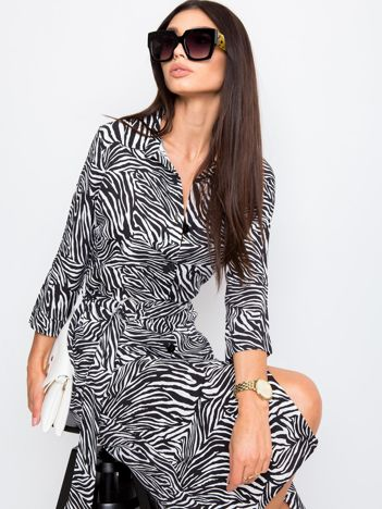 Czarno-szara sukienka Palladine