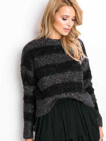 Czarno-szary sweter Divine