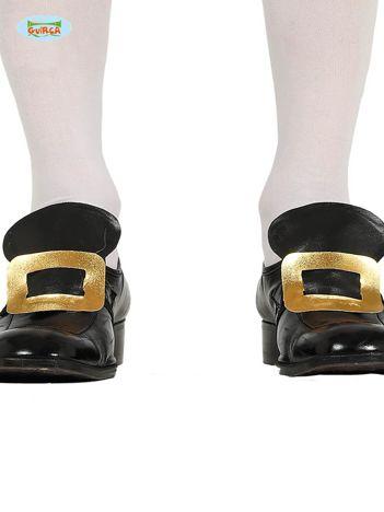 Czarno-złota imprezowa imitacja klamry na buty