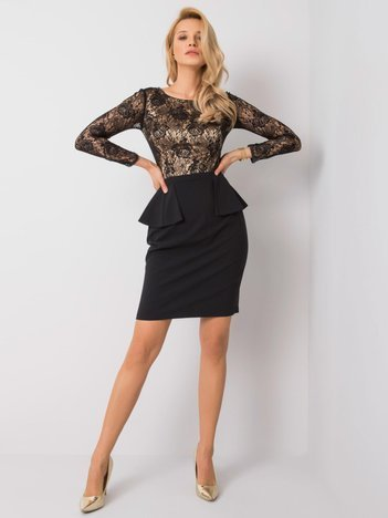 Czarno-złota sukienka Crystal