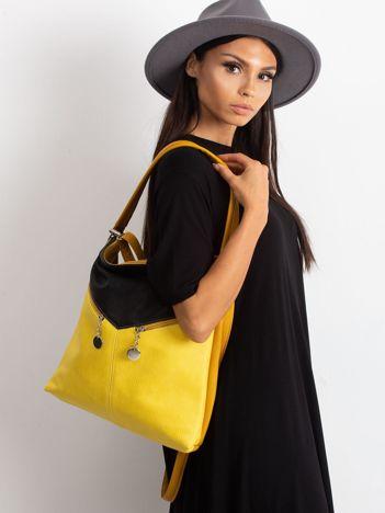 Czarno-żółta miejska torba