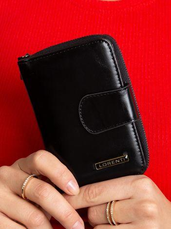 Czarny damski portfel skórzany