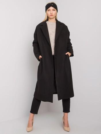 Czarny długi płaszcz damski Waterville