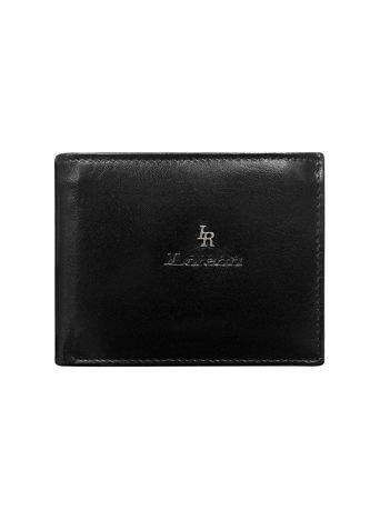 Czarny elegancki portfel skórzany dla mężczyzny