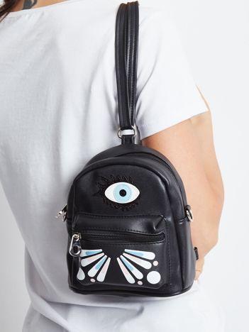 Czarny mini plecak