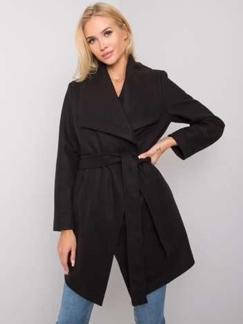 Czarny płaszcz z wełną Malou RUE PARIS