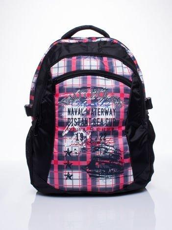 Czarny plecak szkolny DISNEY w kratę
