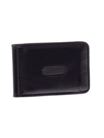 Czarny portfel mini na banknoty i karty