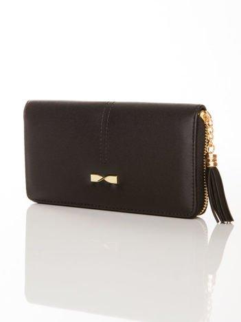 Czarny portfel z CHWOSTEM