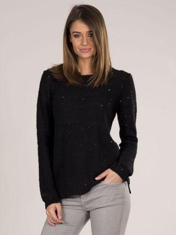 Czarny sweter z cekinami