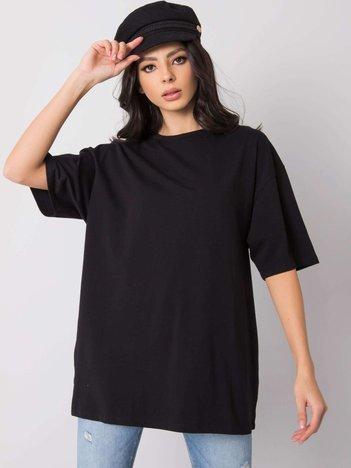 Czarny t-shirt Juliet RUE PARIS