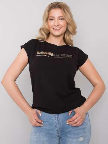 Czarny t-shirt plus size Atri