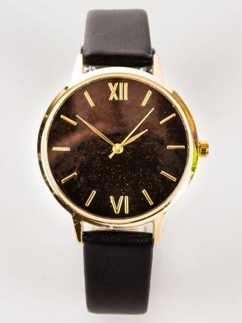 Czarny zegarek damski GLITTER