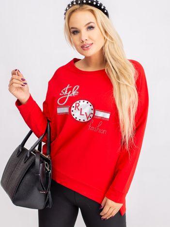 Czerwona bluza plus size Style