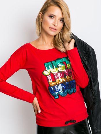 Czerwona bluzka Sequin