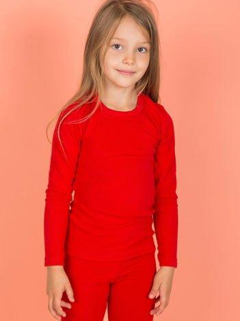 Czerwona bluzka dla dziewczynki z długim rękawem