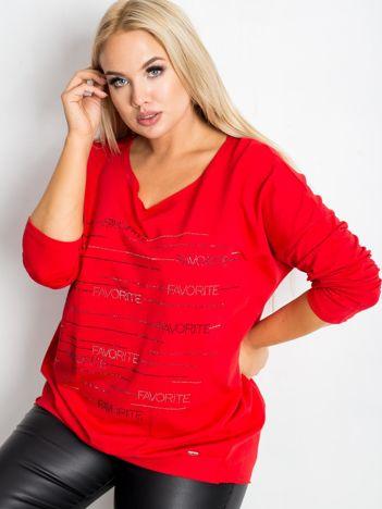 Czerwona bluzka plus size Shay