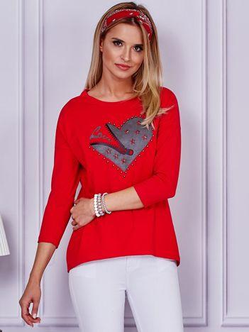 Czerwona bluzka z sercem