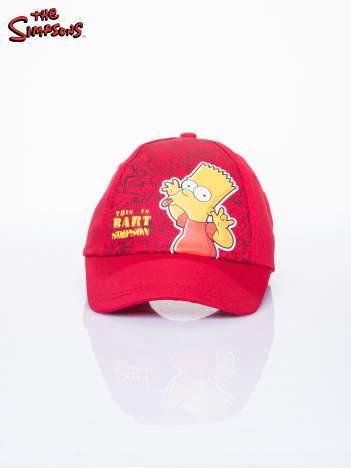 Czerwona chłopięca czapka z daszkiem SIMPSONOWIE