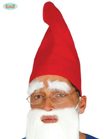 Czerwona czapka krasnoludka dla dorosłych
