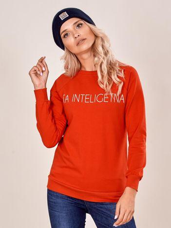 Czerwona damska bluza z napisem